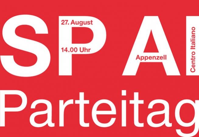 Parteitag der SP AI am 27. August